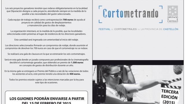 Convocatoria y bases tercer concurso provincial de proyectos cinematográficos CORTOMETRANDO 2015